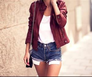 girl, jacket, and street image