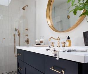 interior decorating, interior design, and master bathroom image