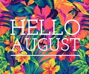 hello august, August, and easel image