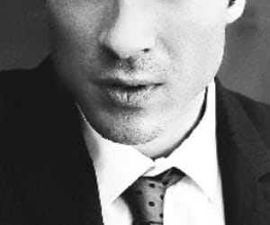 black&white, model, and handsome image