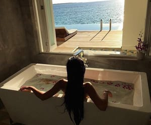 bath, relax, and sea image