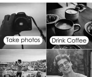 travel, coffee, and happy image