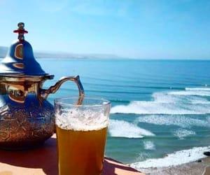 beach, morocco, and tea image