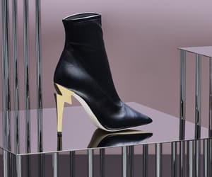 black and gold, shoes, and fancy image