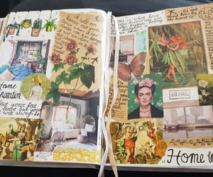 cactus, journaling, and plants image