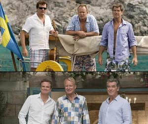 Colin Firth, mamma mia, and Pierce Brosnan image