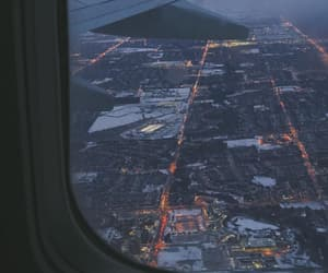 airplane, airport, and city image