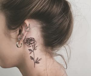 flowers, inked, and piercing image
