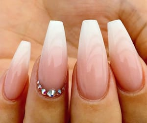 nails, ombre, and french tip image