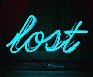 neon, light, and lost image