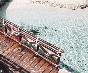 beach, beauty, and bridge image