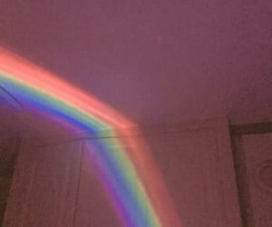 pink, rainbow, and room image