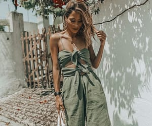 fashion, girl, and jumpsuit image