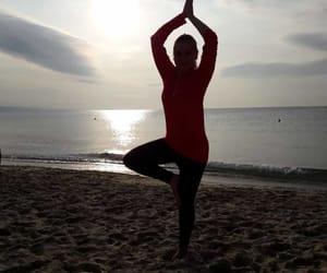 pose, yoga, and feelgood image