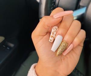 nails, nail art, and acrylic image