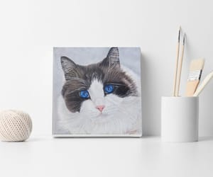 art, etsy, and cat painting image