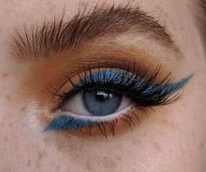 eyes, blue, and look image