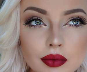 beuty, eyes, and make up image