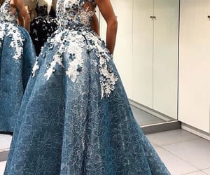 blue, dress, and gorgeous image