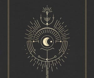 black, moon, and witch image