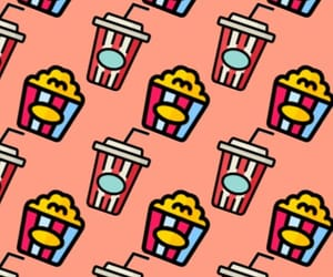 pattern, refresco, and popcorn image