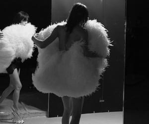 backstage, saint laurent, and black and white image