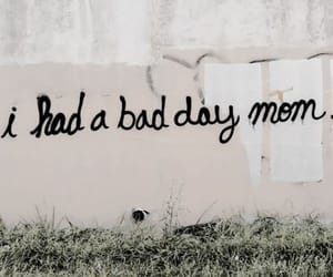 child, graffitti, and mom image