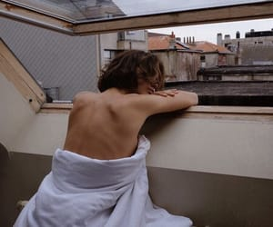 city, girl, and morning image