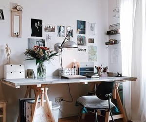 apartment, decoration, and work image
