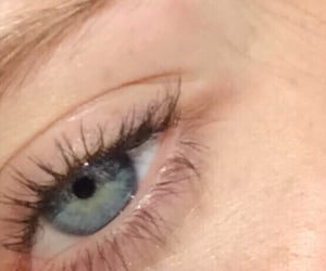 blue, clear, and lashes image