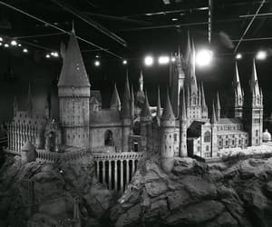 aesthetic, black and white, and castle image