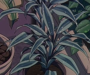 aesthetic, anime, and plant image