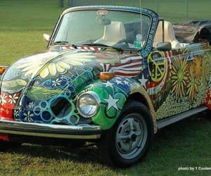 car, handpainted, and vw bug image