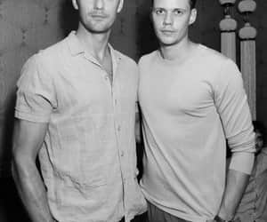 alexander skarsgard, black & white, and bill skarsgård image