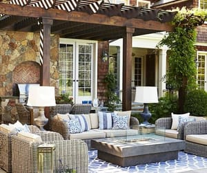 bed, chilling, and outdoor living image