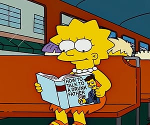 simpsons, book, and cartoon image