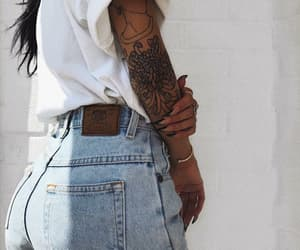 fashion, tattoo, and girl image