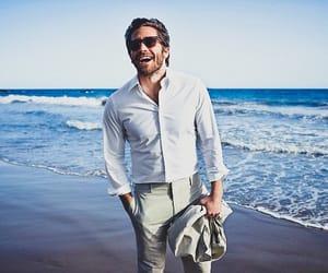 jake gyllenhaal, beach, and beard image