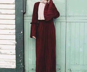 dress, girls, and hijab image