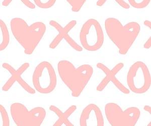 wallpaper, pink, and xoxo image