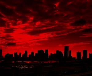 red, city, and aesthetic image