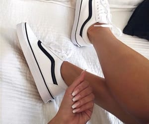 nails, vans, and white image