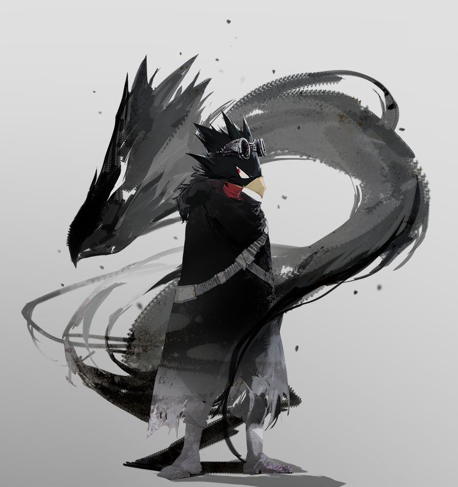 30 Images About Aes Bnha Fumikage Tokoyami On We Heart It