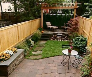backyard, home, and decoration image