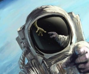 alien, space, and astronaut image