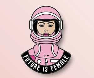 feminism, pink, and female image