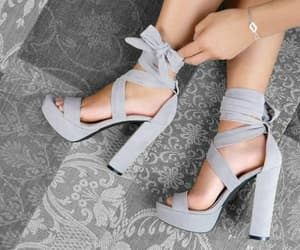 grey, hells, and shoes image