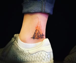 ankle, fire, and ink image