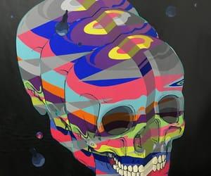abstract, orange, and purple image