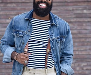 beard, gentleman, and jean jacket image